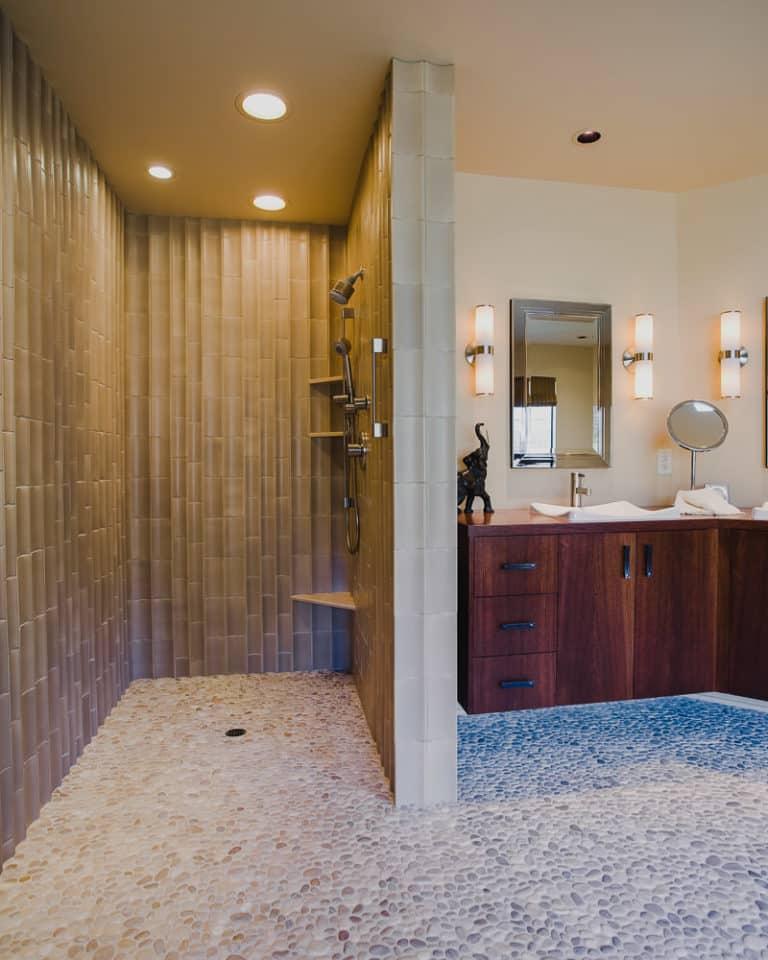 Salem Oregon | Master Bathroom Remodel, Floating Cabinet
