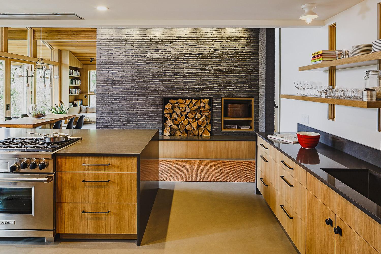 Sandy Oregon | Modern Cabinetry - Waterfall Granite
