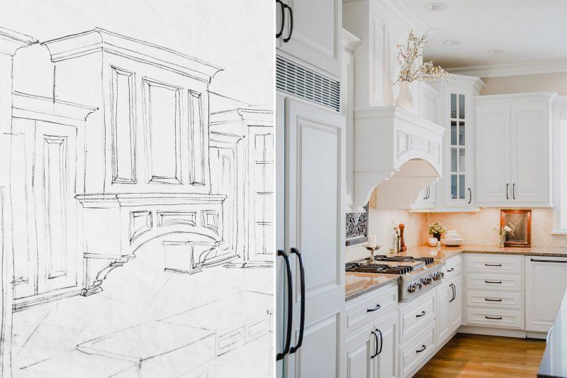 White Bright Kitchen Wood Granite Countertops
